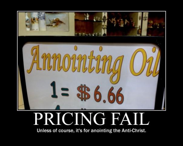 Pricing fail motivator