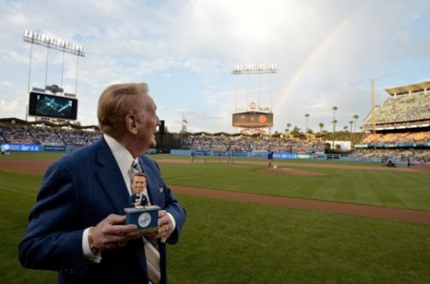Vin Scully and Rainbow